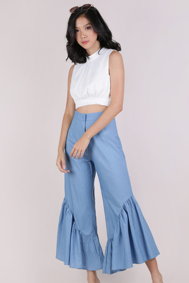 Sophie Cropped Top (White)