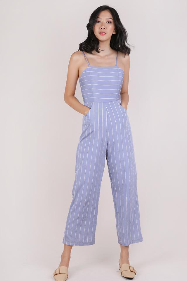 Adelia Jumpsuit (Blue Stripes)