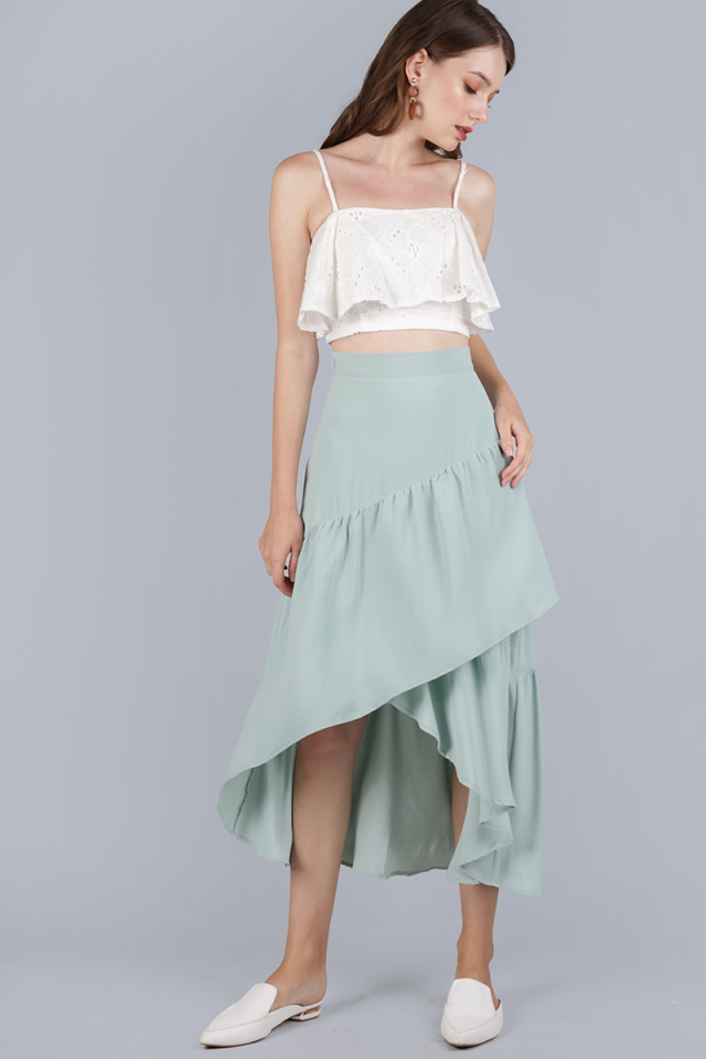 Yule Tiered Skirt (Seafoam)