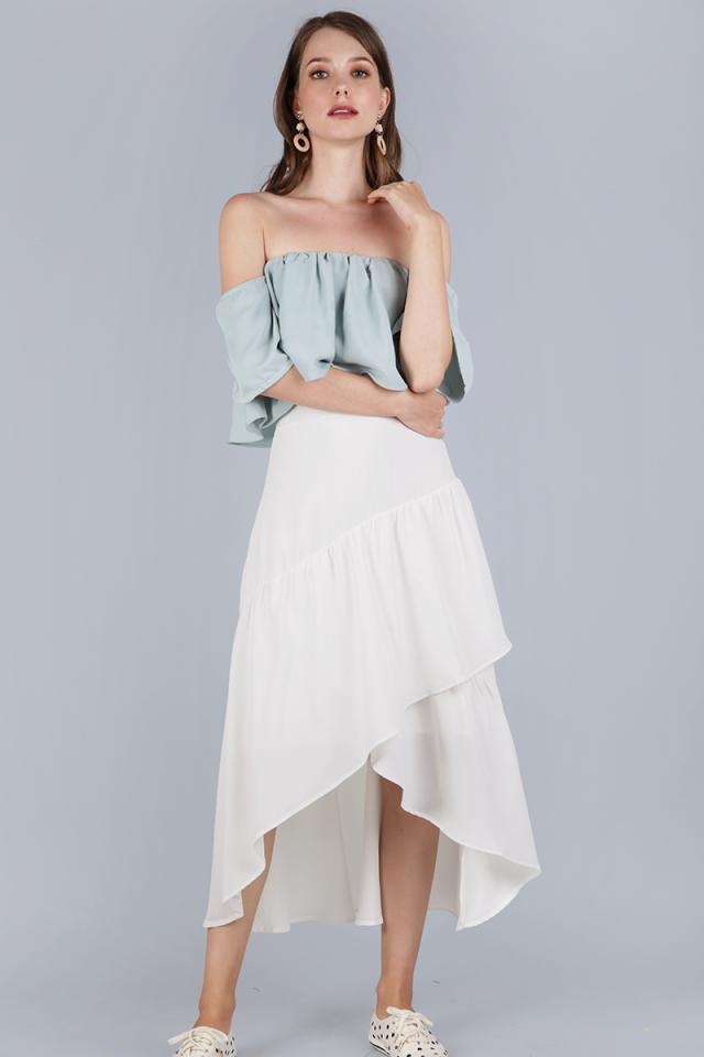 Yule Tiered Skirt (White)