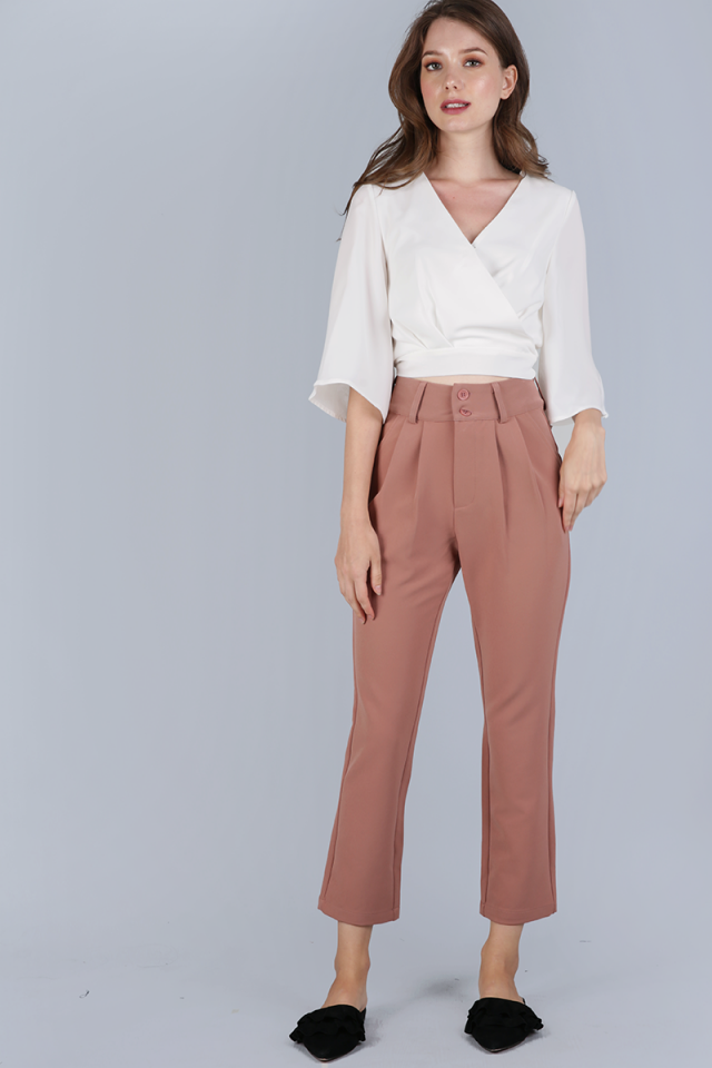 Lyden Straight Leg Pants (Dusty Rose)