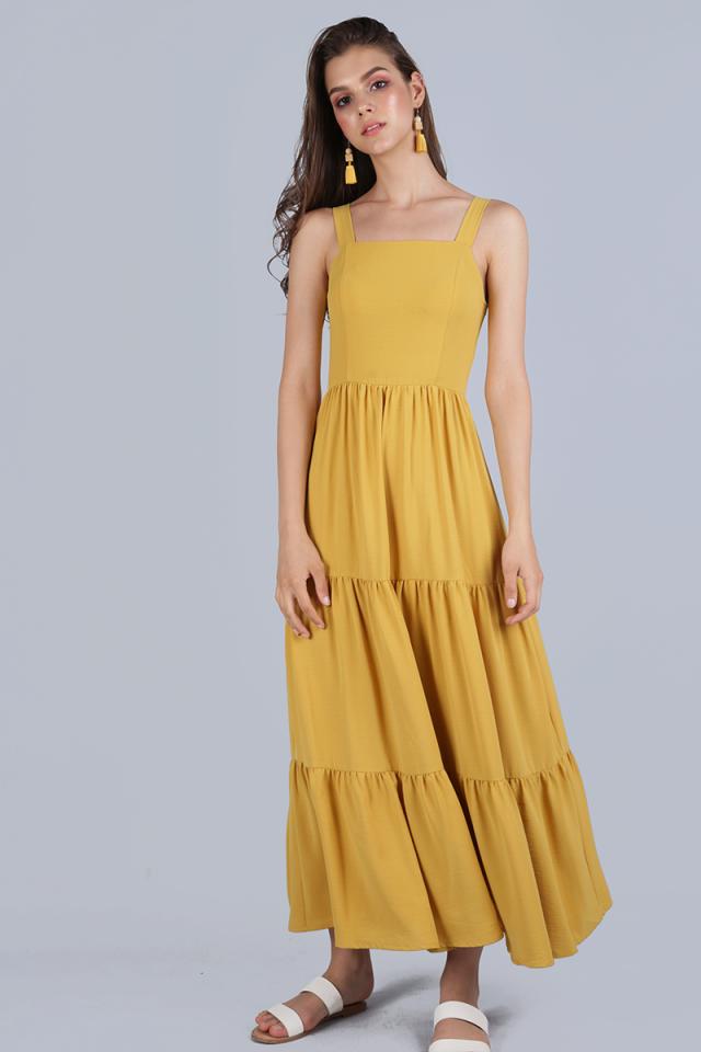 Flo Tiered Maxi Dress (Honey)