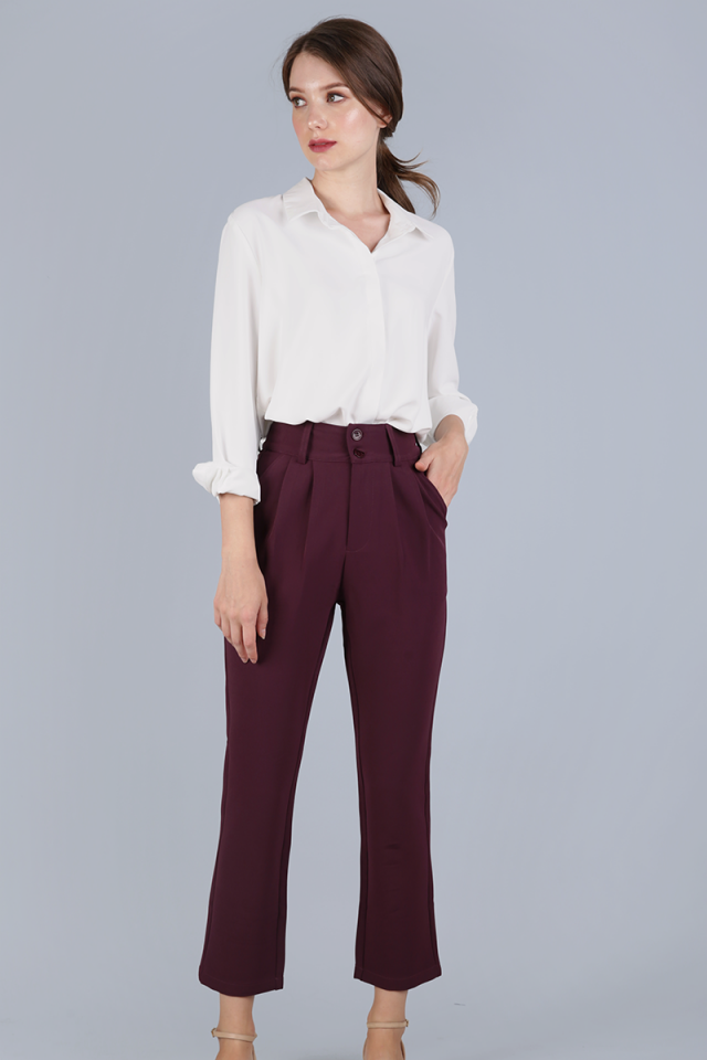 Lyden Straight Leg Pants (Plum)