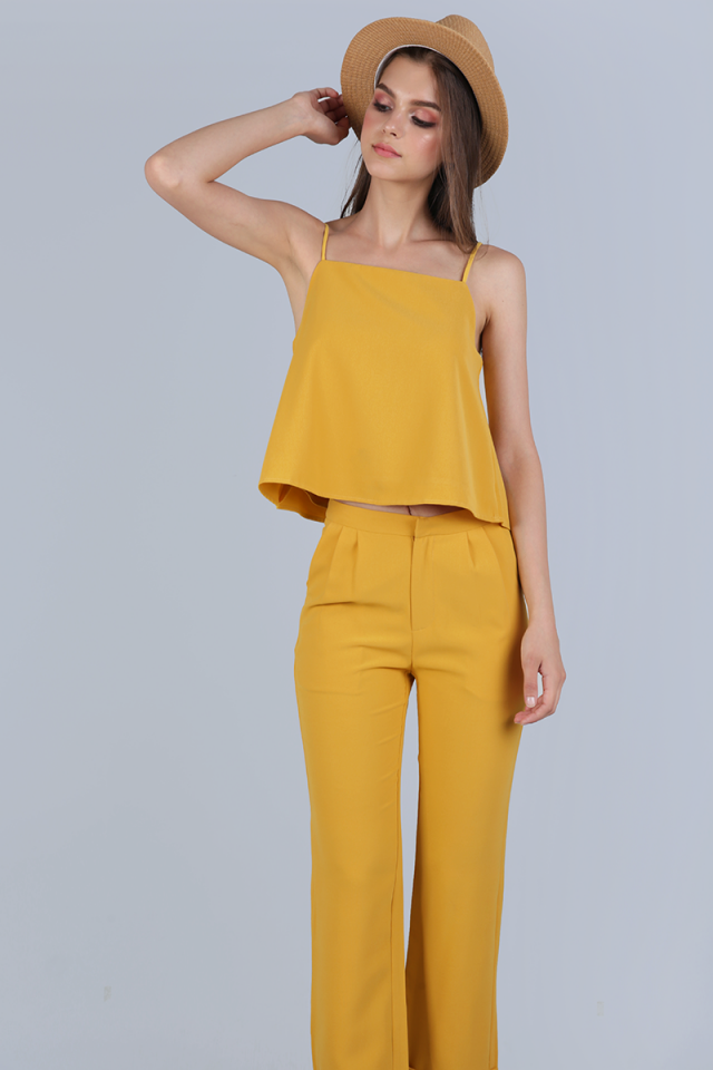 Stella Halter Spag Top (Yellow)
