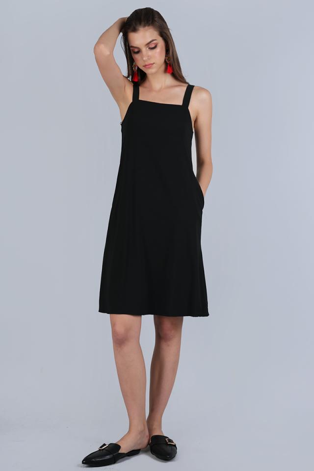 Nova Flare Dress (Black)
