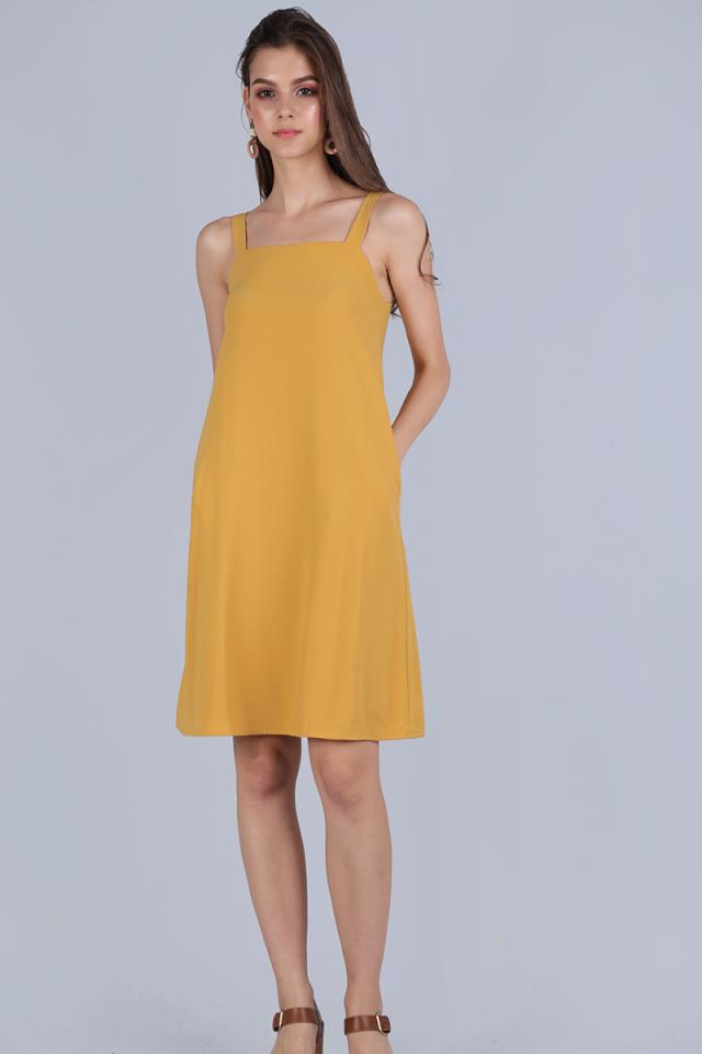 Nova Flare Dress (Mustard)