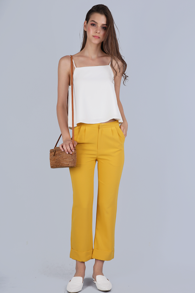 Birks Cuffed Pants (Yellow)
