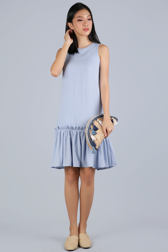 Calder Drop Hem Dress (Blue)