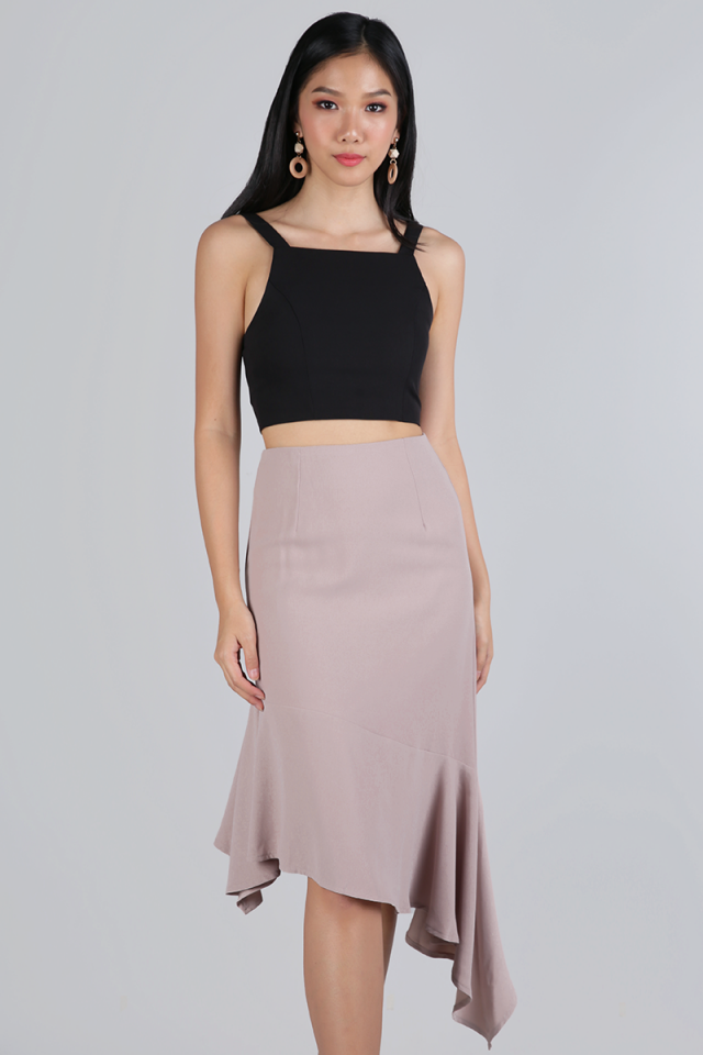 Heidi Cropped Top (Black)