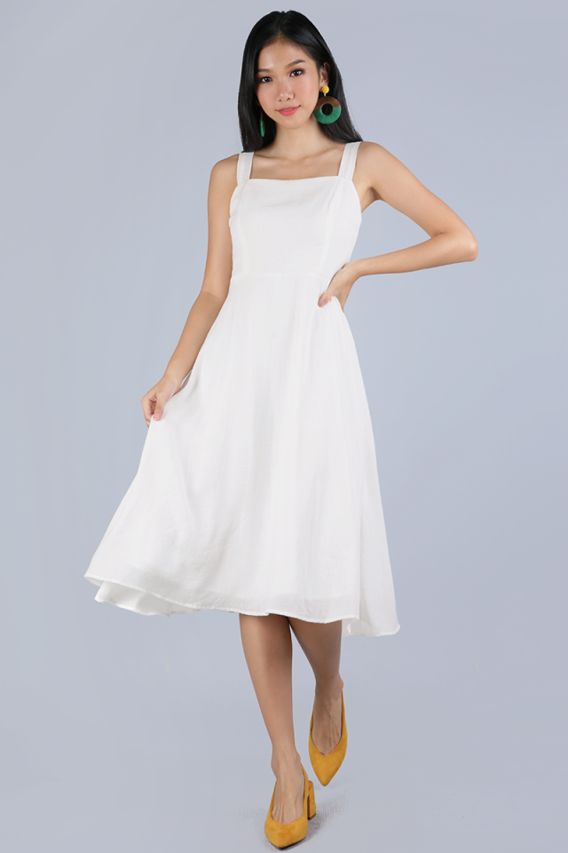 Verina Midi Dress (White)