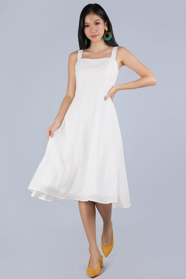Verina Midi Dress (White)