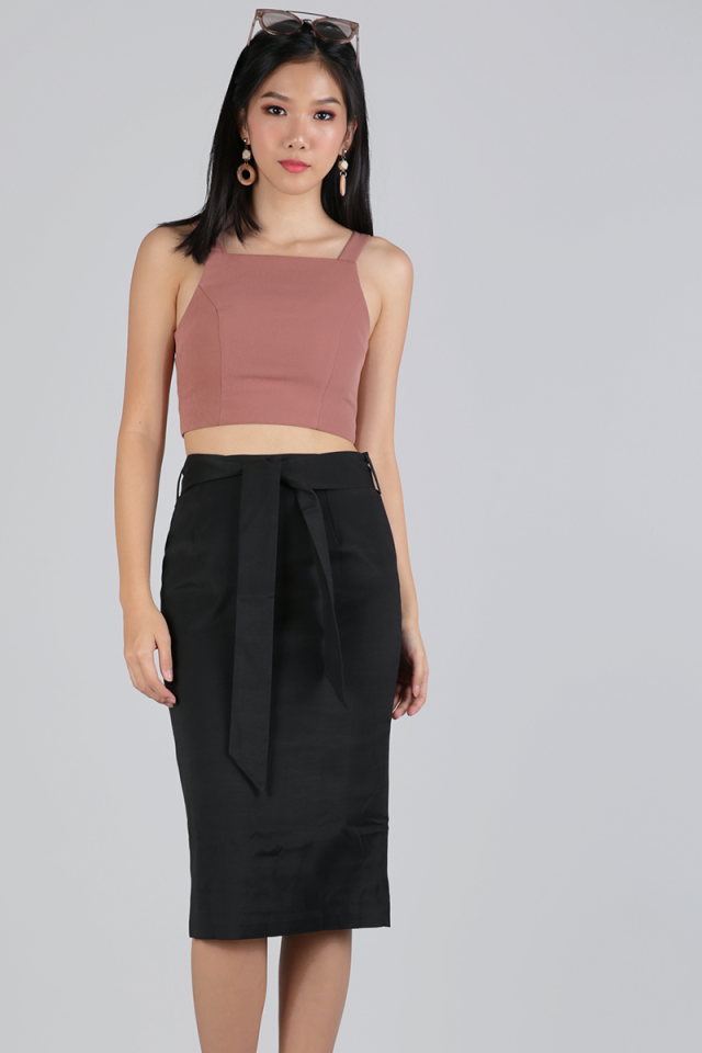 Heidi Cropped Top (Muted Rose)