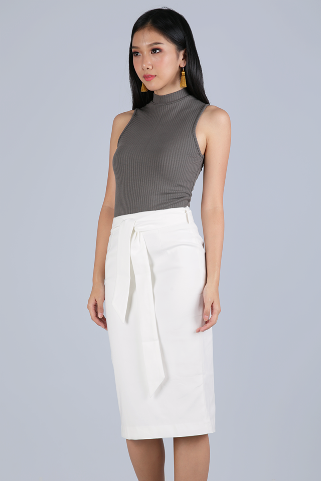 Lyle Pencil Skirt (White)