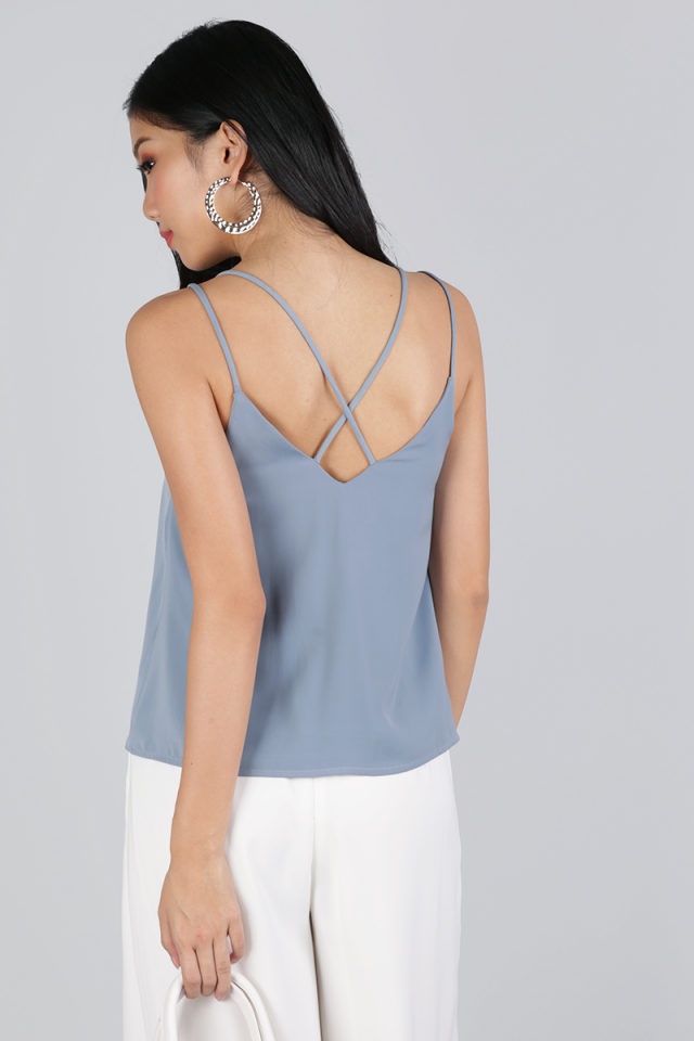 Zena Cross Back Spag (Ash Blue)
