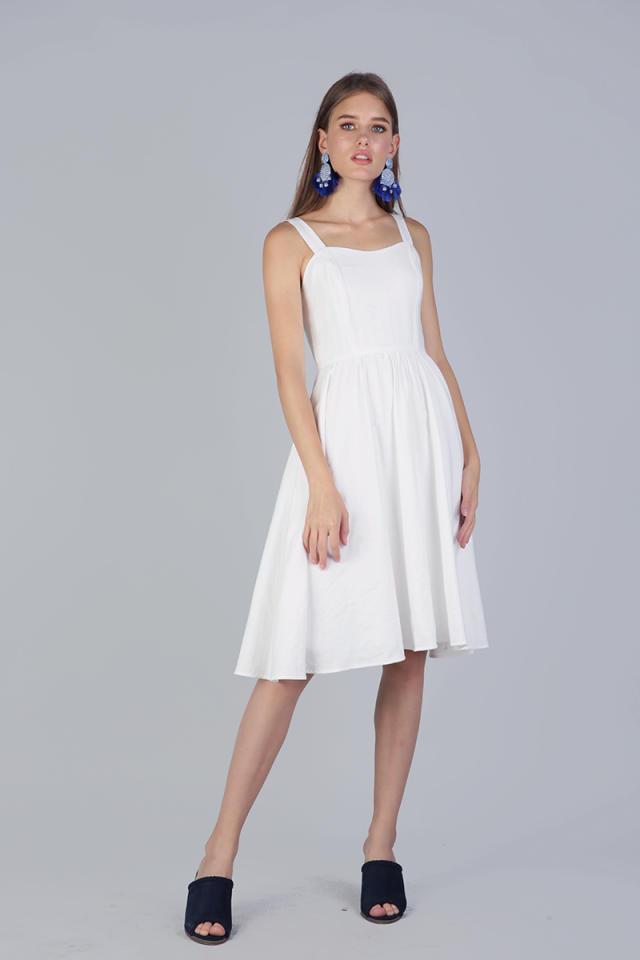 Marilyn Midi Dress (White)