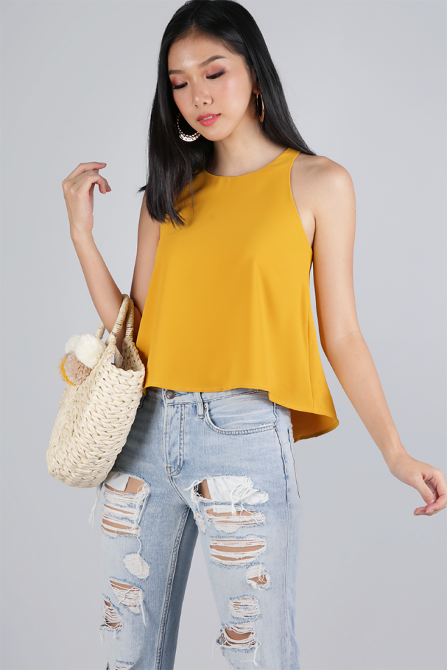 Heather Swing Top (Saffron)