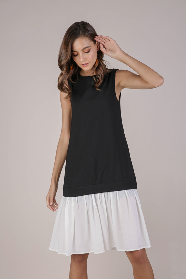 Nikki Colourblock Dress (Black)