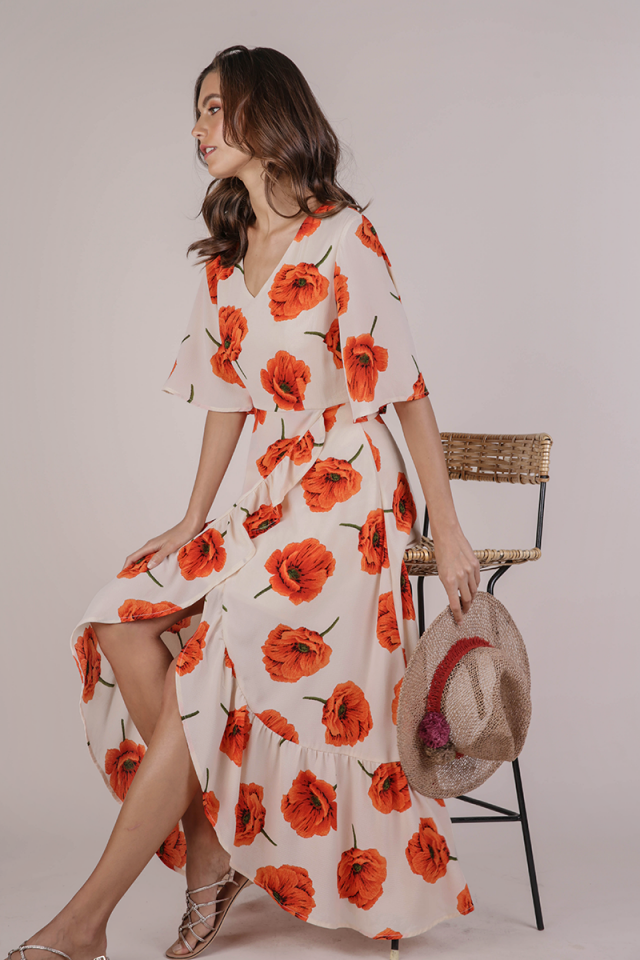 Edith Floral Maxi Dress (Amber Florals)