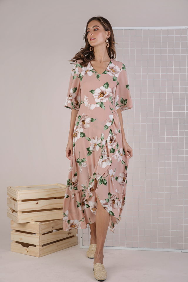 Edith Floral Maxi Dress (Pink Florals)