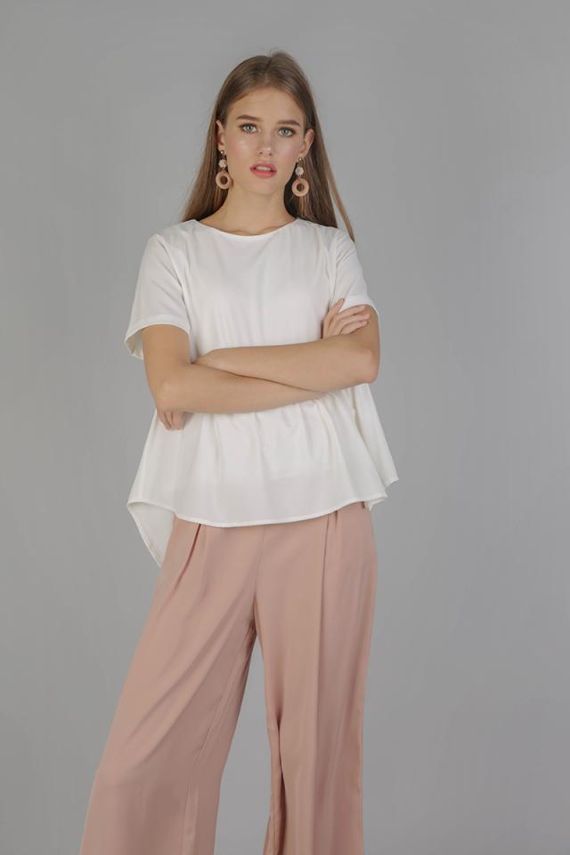 Naomi Babydoll Top (White)