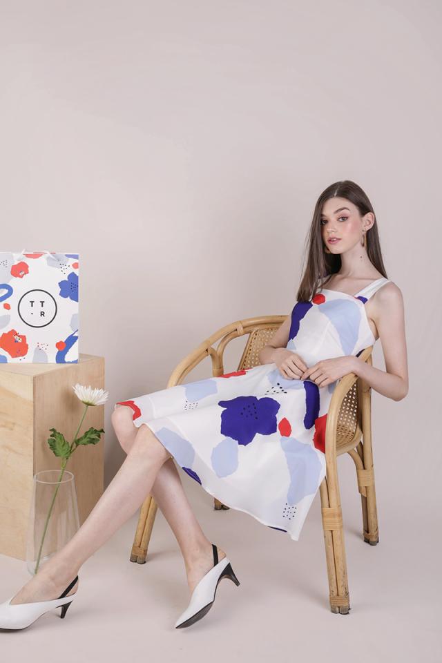Ariel Flare Dress (Bold Florals)