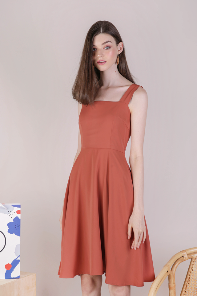 Ariel Flare Dress (Terracotta)