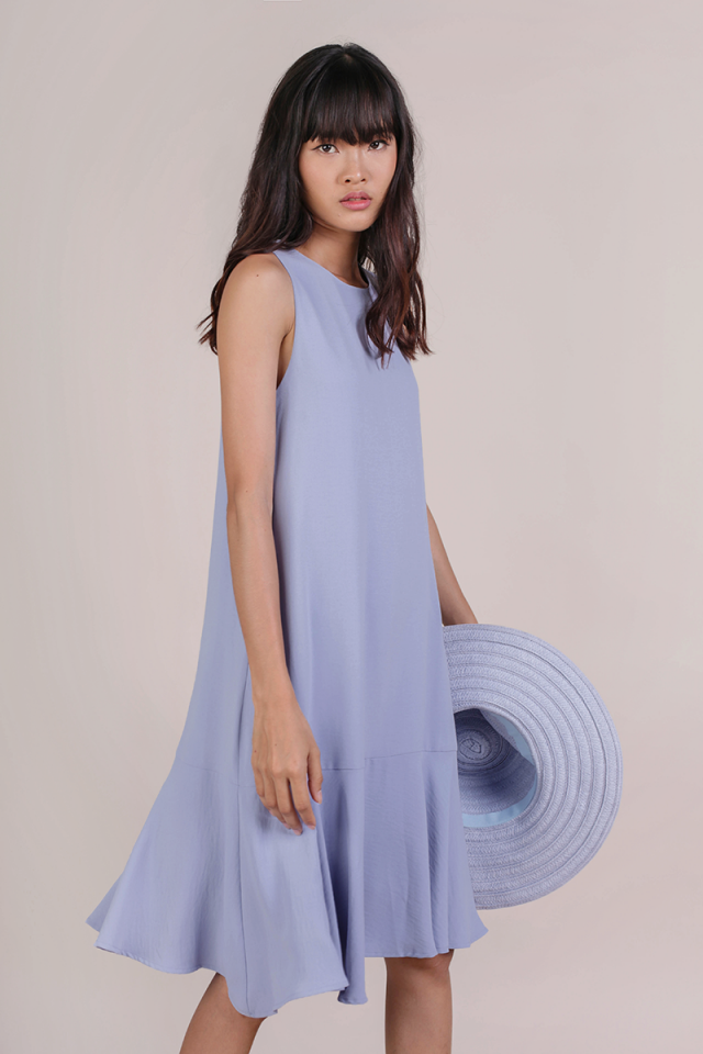 Jayne Drop Hem Dress (Periwinkle)
