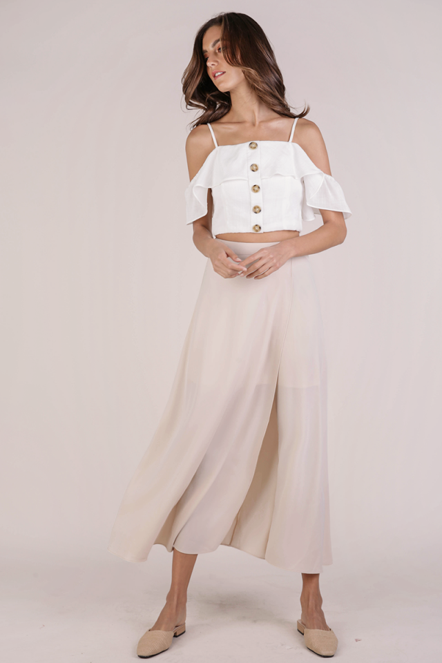 Odelia Slit Maxi Skirt (Cream)