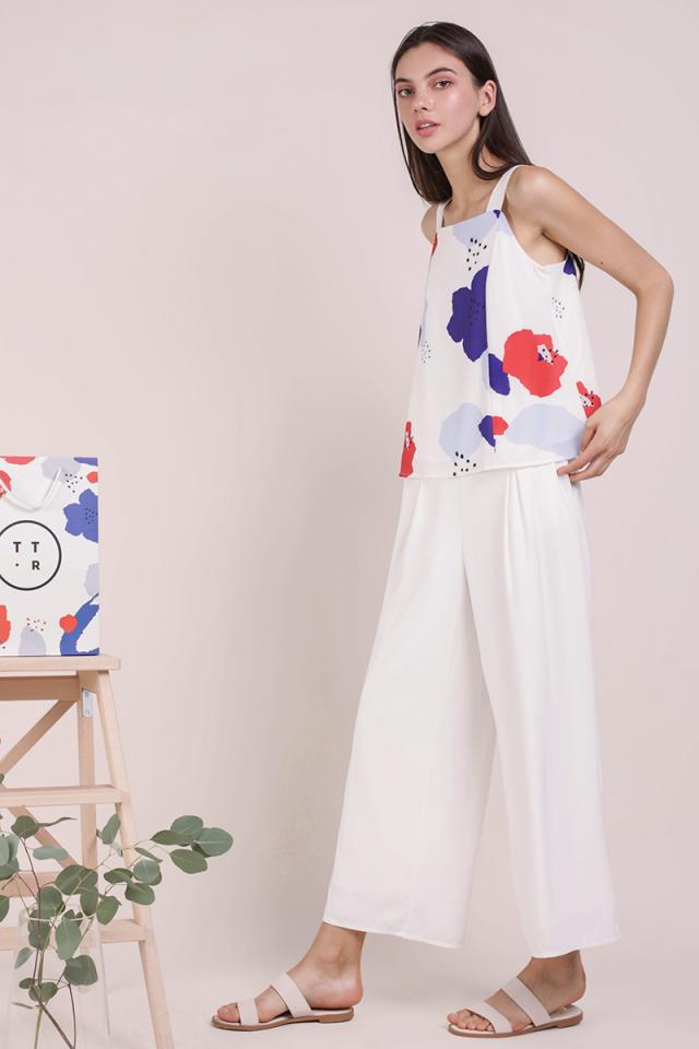 Elena Thick Strap Top (Bold Florals)