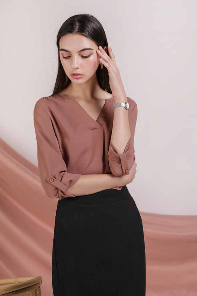 Kerry Origami Blouse (Tea Rose)