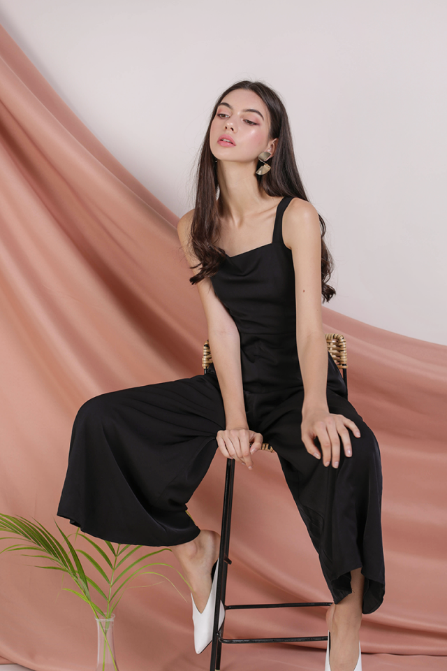 Donna Wide Leg Jumpsuit (Black)