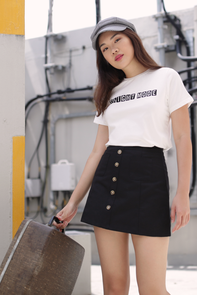 Gabby Denim Skirt (Black)