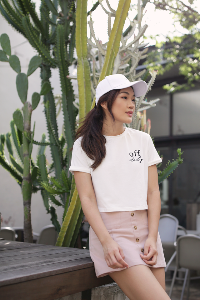 Off Duty Cropped Tee (White)