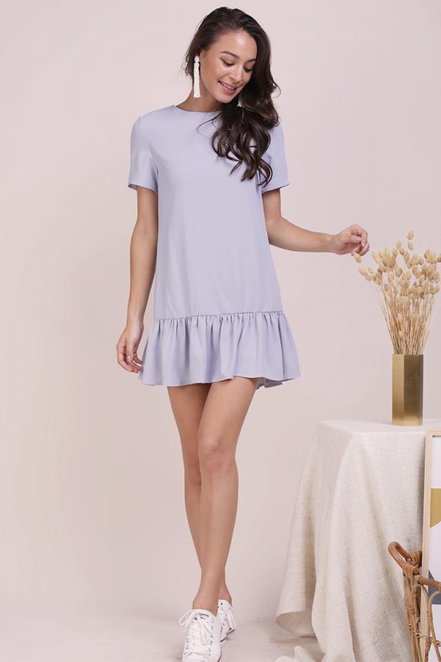 Kara Drop Hem Dress (Lilac Grey)