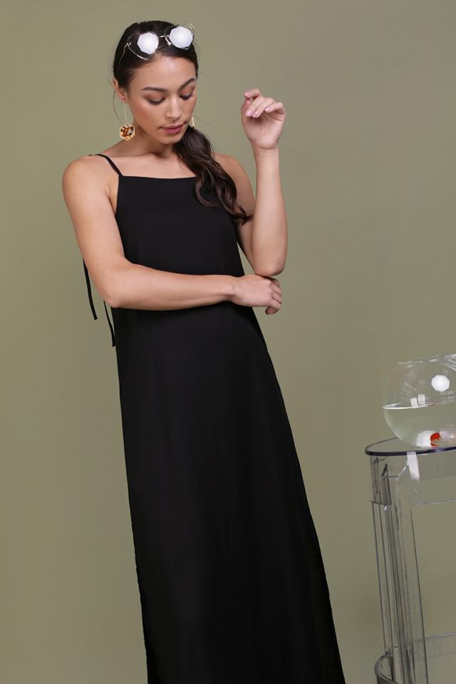 Tayana Midi Dress (Black)