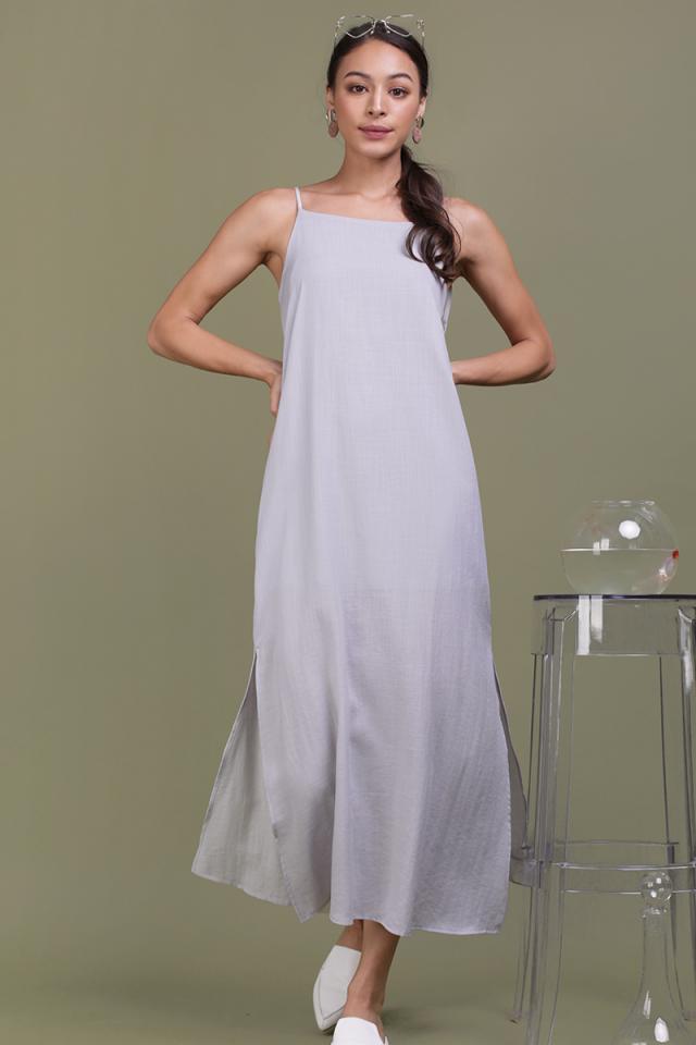 Tayana Midi Dress (Lilac Grey)