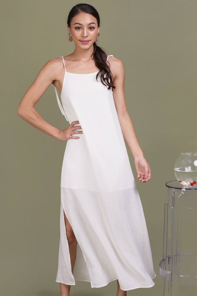 Tayana Midi Dress (Off White)