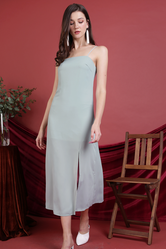 Abigail Slit Dress (Seafoam)