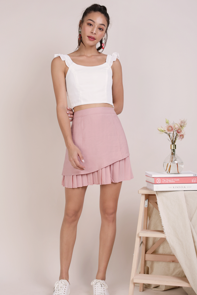 Jayden Pleated Skirt (Blush Pink)