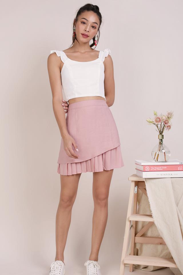 Jayden Pleated Skirt (Blush Pink)