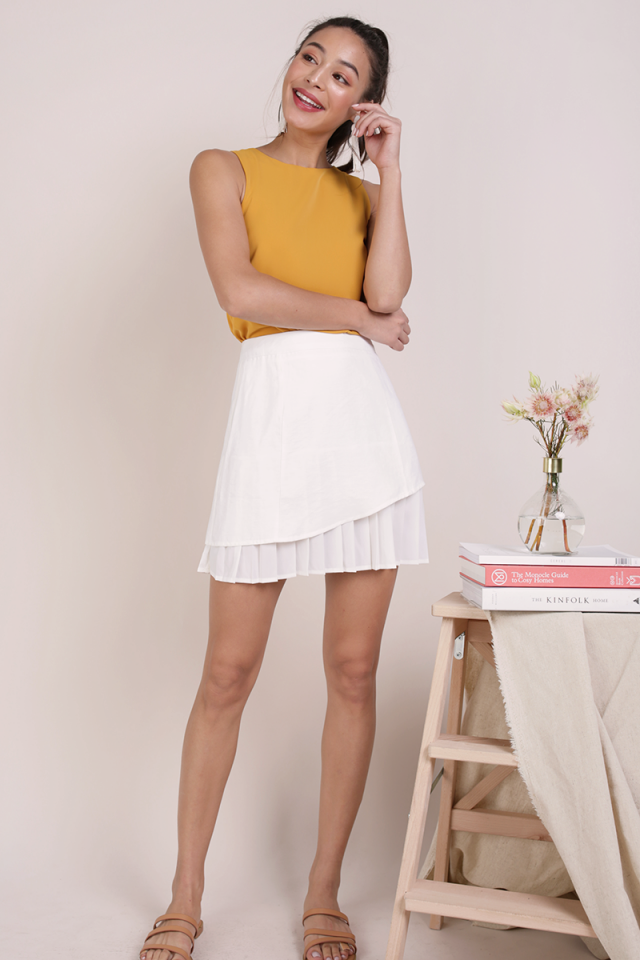 Jayden Pleated Skirt (White)