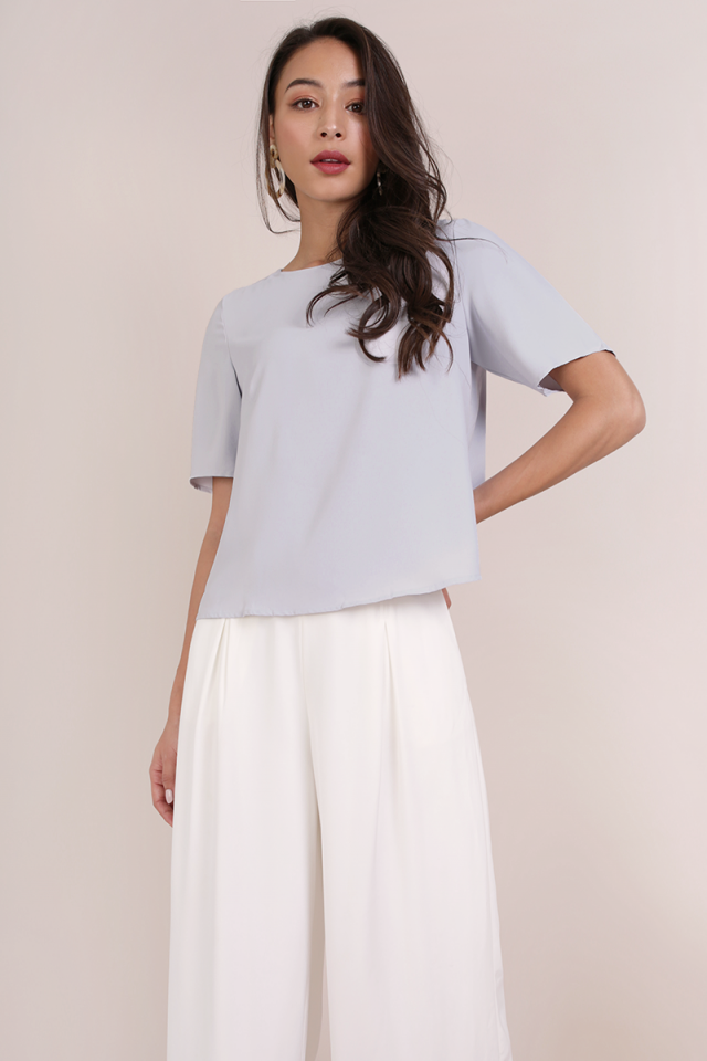 Joy Basic Tee (Lilac Grey)