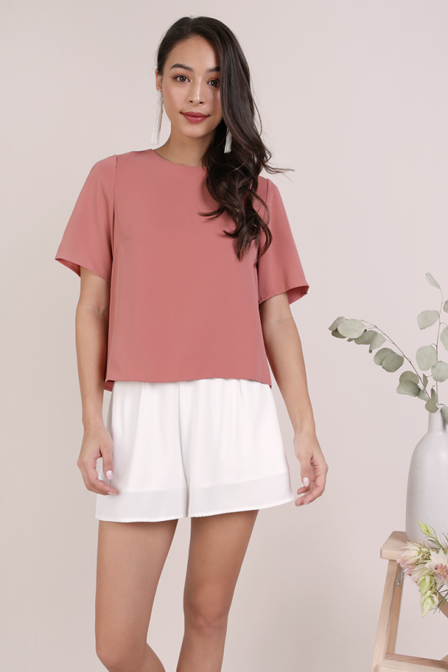 Joy Basic Tee (Dusty Rose)