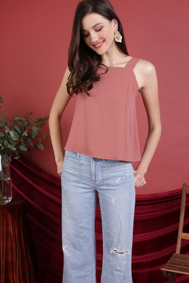 Elena Thick Strap Top (Dusty Rose)