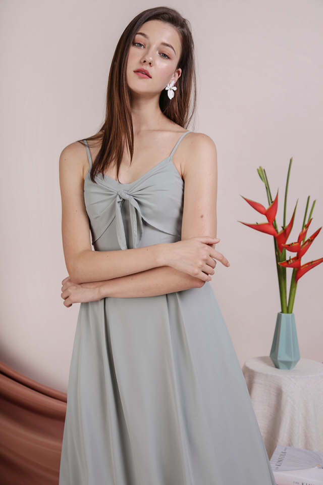 Faith Tie Front Dress (Seafoam)