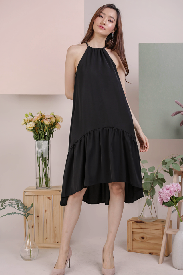 Ida Halter Midi Dress (Black)