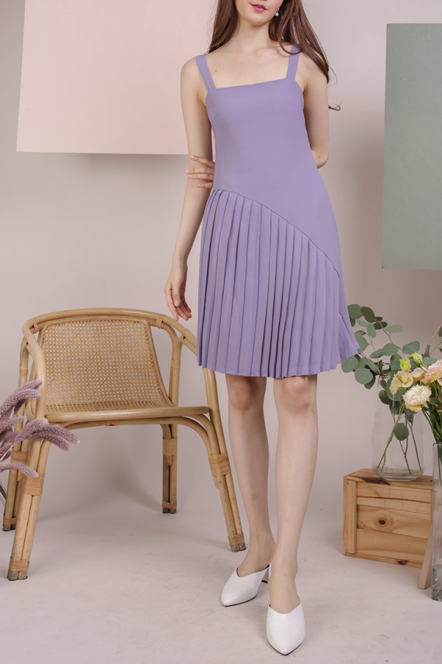 Mel Pleated Dress (Lavender)