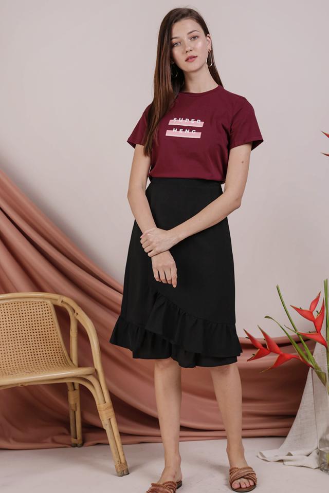 Myla Ruffles Skirt (Black)