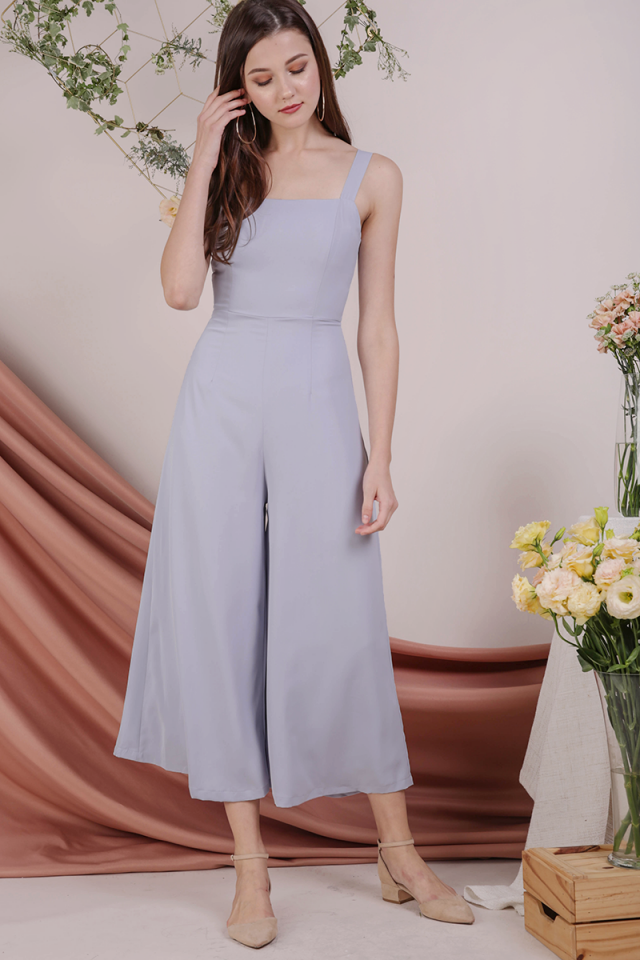 Donna Wide Leg Jumpsuit (Lilac Grey)