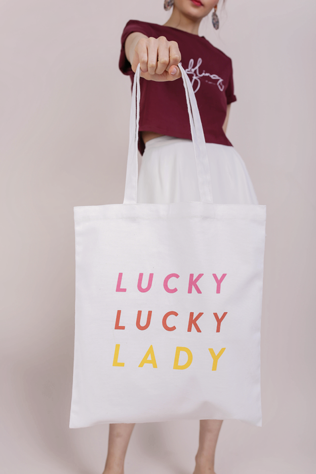 Lucky Lucky Lady Tote Bag